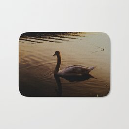 The Sundown Swan Bath Mat