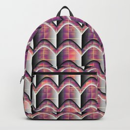 Colored Stripes&Grids with Grey Shadows Backpack