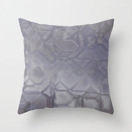 future fantasy steel Throw Pillow