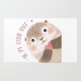 Otter Half Rug