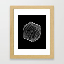 Icosa Mesh Framed Art Print