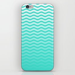 Turquoise Tropical Faded Ombre-Shaded Ocean Blue Green Sea Chevron iPhone Skin