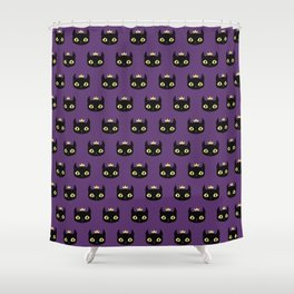 Black cat king Shower Curtain