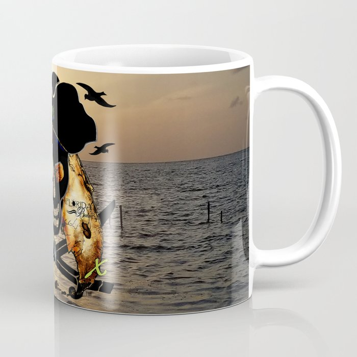 Fishing with a Florida Pirate Coffee Mug