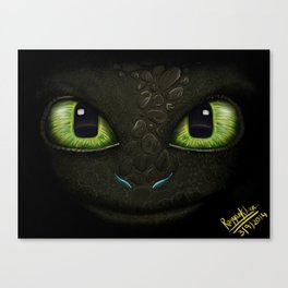 Toothless - How to Train Your Dragon 2 Canvas Print