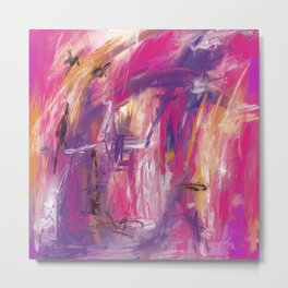 It is so Wavey Bright Pink Magenta Purple Handmade Abstract Metal Print