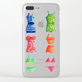 Evolution of the swimsuit Clear iPhone Case