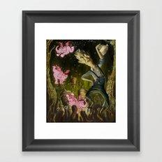 The Demon of Round Cypress Framed Art Print