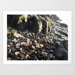 Glass beach Art Print