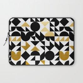 geometric black & gold Laptop Sleeve