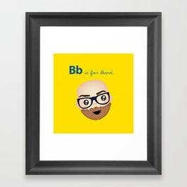 B is for Beard Framed Art Print