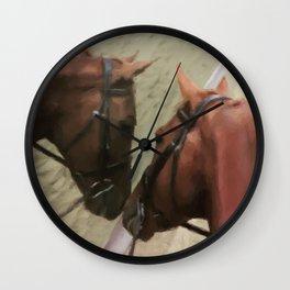 Horse Reflection Wall Clock