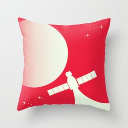 Soyuz Space Art poster Throw Pillow