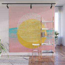 Electric minimal sun Wall Mural