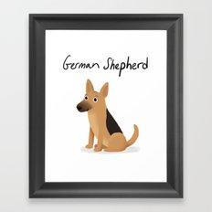 German Shepherd - Cute Dog Series Framed Art Print