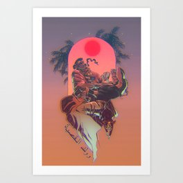 Rock el Casbah Art Print