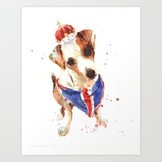 LONDON - Jack Russell Art - Union Jack Art Print