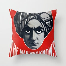 Alexander- The  Man Who Knows Throw Pillow