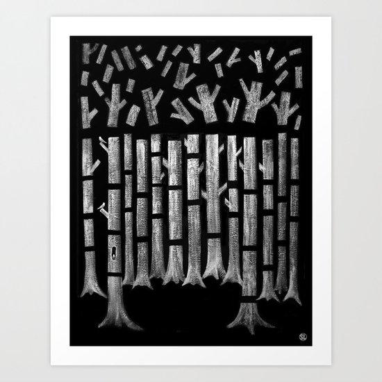 Timber! Art Print
