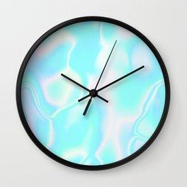 Pastel Hologram Wall Clock