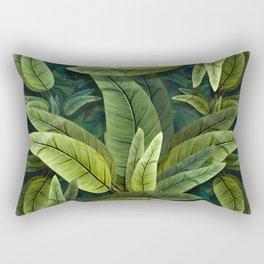"""""""Retro Tropical Tiki Fantasy 02"""" Rectangular Pillow"""