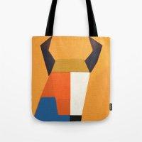 taurus Tote Bags featuring Taurus by Fernando Vieira