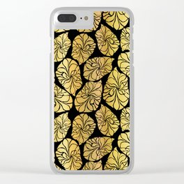 Shiny Gold Leaves Clear iPhone Case