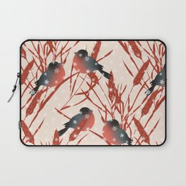 Winter pattern with bullfinches. Laptop Sleeve