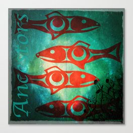 Protect Our Sacred Salmon Canvas Print