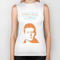dean winchester Biker Tanks featuring Dean Winchester w/ quote by Jess Symons