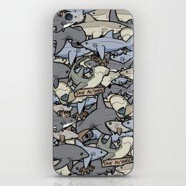 Save ALL Sharks! iPhone Skin