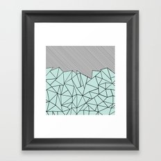 Ab Lines 45 Mint Framed Art Print