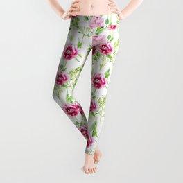 Watercolor Flower and leaf design, Floral pattern, nature art watercolor art beautiful floral design Leggings