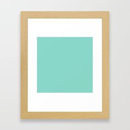 Seafoam Blue Green Framed Art Print
