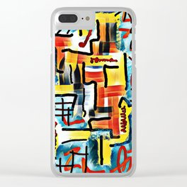 Abstract #15 Clear iPhone Case