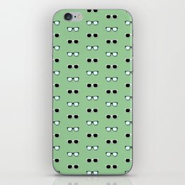 All Them Glasses - Green iPhone Skin