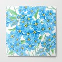 Forget me not seamless pattern by katerinamitkova