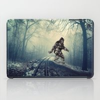 bigfoot iPad Cases featuring Misty Railway Bigfoot Crossing by D.A.S.E. 3