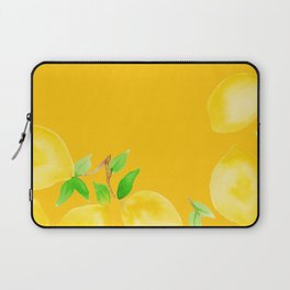 Lemons on Mustard Yellow Laptop Sleeve