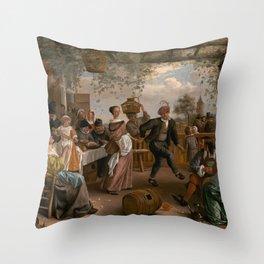 The Dancing Couple - Jan Steen Throw Pillow