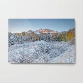 COLORADO MOUNTAIN SUNRISE PHOTO - TELLURIDE - AUTUMN IMAGE - NATURE PICTURE - LANDSCAPE PHOTOGRAPHY Metal Print