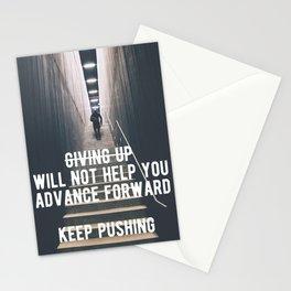 Motivational - Always Keep Pushing Forward Stationery Cards