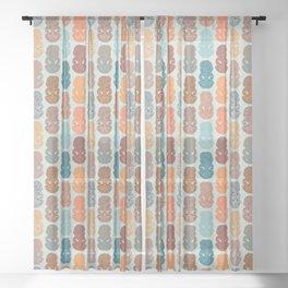 Hei Tiki Sheer Curtain