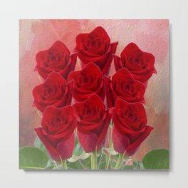 Love - Red Roses Metal Print