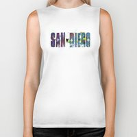 san diego Biker Tanks featuring San Diego by Tonya Doughty