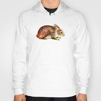 bunny Hoodies featuring Bunny by TatiAbaurreDesigns