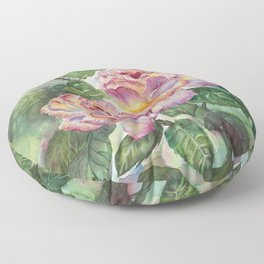 Grandma's Roses Floor Pillow