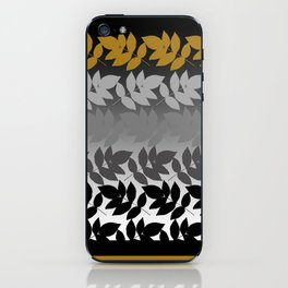 Hombre Leaf Black Gold iPhone Skin