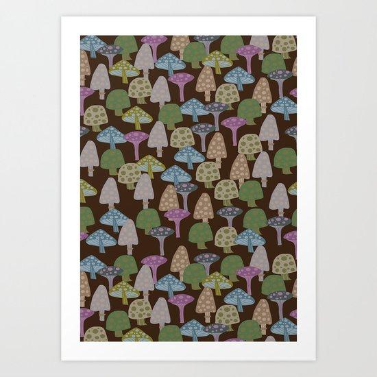 toxic mushrooms Art Print