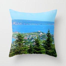 Bonaventure Island panoramic Throw Pillow